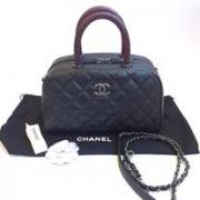 Chanel Bowling 10.5 caviar black หูlizard rhw
