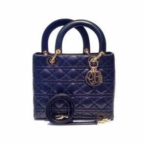 """Dior Lady 10""""Lamb Navy Blue ghw"""