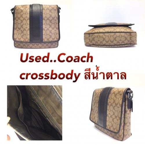 Used Coach crossbody สีน้ำตาล