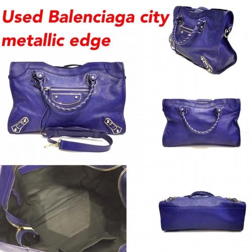 Balenciaga City Metallic Edge สีม่วง