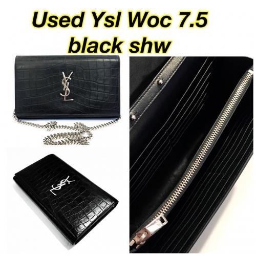 """Ysl Woc 7.5"""" Black Shw"""