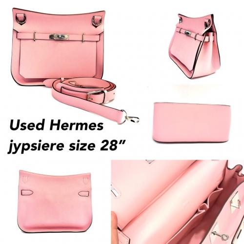 "Hermes Jypsiere 28"" Rose Sakura Shw"
