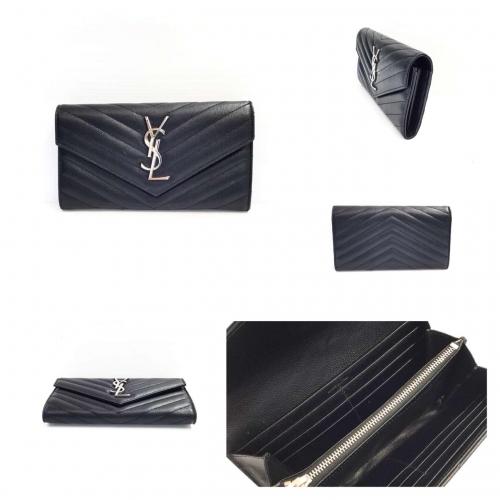 YSL Sarah Wallet สีดำ Shw