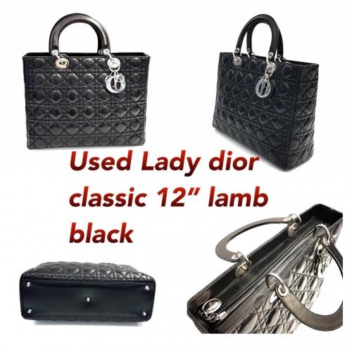 "Dior Lady 12"" Lamb Black Shw"