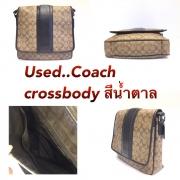 Coach Crossbody ลาย CC สีน้ำตาล