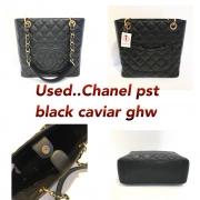 Chanel Pst Caviar Black ghw