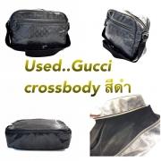 Gucci Crossbody เป็นหนังกันน้ำลายGGสีดำ